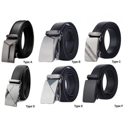 Biziborong Men Adjustable Leather Automatic Buckle Belt - R555