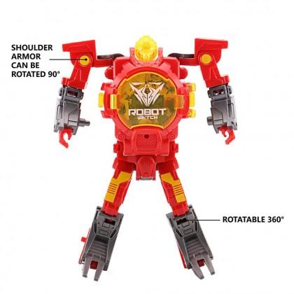 Biziborong Kids Transformation Rescue Bot Electronic Digital Robot Watch  R853