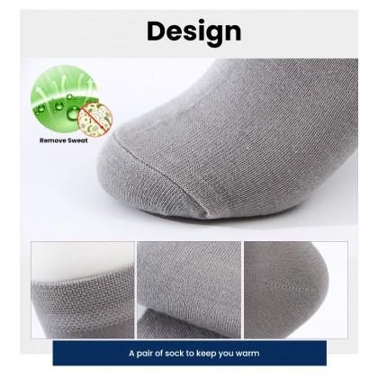 Biziborong 3 Pairs Set Men Sock Bamboo Fiber Socks R694