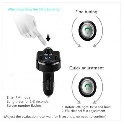 Biziborong Bluetooth Car Adapter Music Player Phone Charger Handsfree - R982