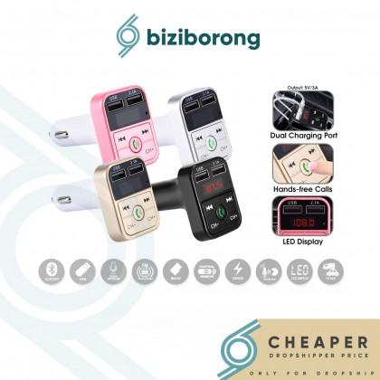 Biziborong Bluetooth Car Adapter Music Player Phone Charger Handsfree - R983