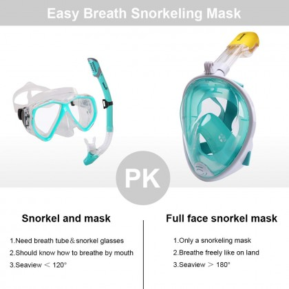 Biziborong Youth Adult Swimming Diving Snorkel Full Face Mask - R1026