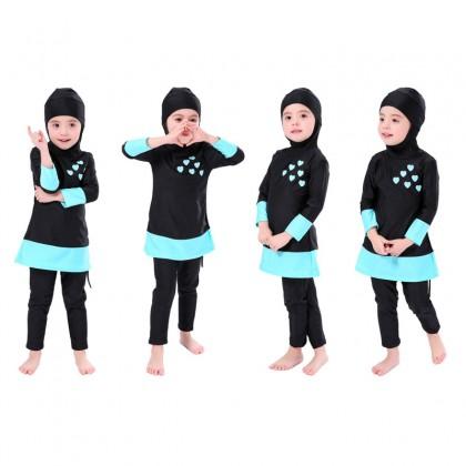 Muslimah Swimwear Biziborong Kids Girl Long Sleeve Swimming Suit - R1021