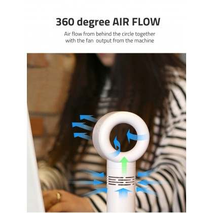 Biziborong Bladeless Handheld USB Charging Rechargeable Stand Mini Fan - RB08
