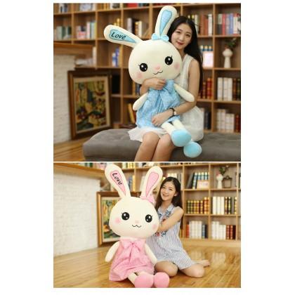 Biziborong 100cm Rabbit Soft Plush Stuffed Toy Stuff Cushion Doll Birthday Valentine Gift Pillow Kids - RE36