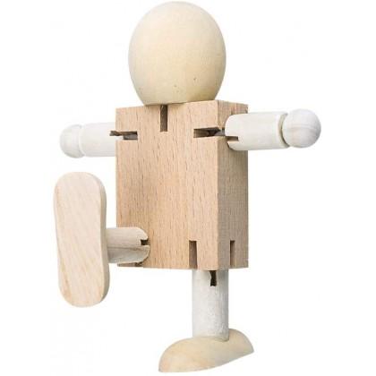Biziborong 1pcs Wooden DIY Art & Craft Drawing Painting Figure Robot Kids Toy Permainan Kanak Kanak - RE09