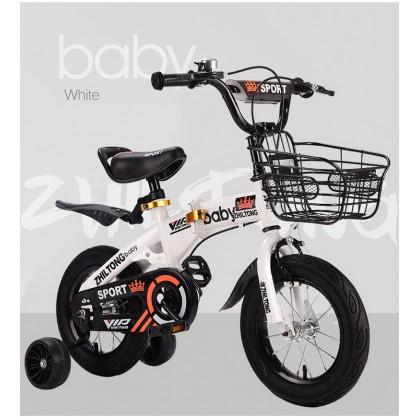 Biziborong 3 - 9 year Foldable Bicycle Kids Bike Kid Tricycle Children Bike 14/16/18 Inch Wheel Girl Boy - RE99