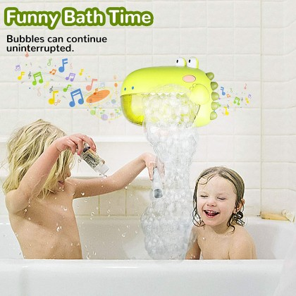 Biziborong Dino Baby Soap Bubble Machine Bath Nursery Playing Kids Toy Bubble Maker RG01