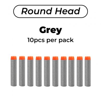 Biziborong 10Pcs 7.2cm Soft Darts Refill Bullets EVA Foam Bullet Suction Rounded Head Toy Blaster - RG03
