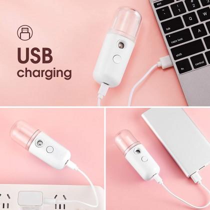 Biziborong Mini Facial Nano Mist Water Sprayer USB Rechargeable Steamer Beauty Spray 保湿 补水 消毒 器  - RG02