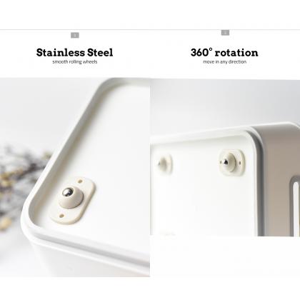 Biziborong 4pcs Self Adhesive Caster Mini Swivel Wheels 360° Rotation Metal Ball Stick Storage Box Bin - HL001