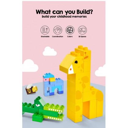 Biziborong 274pcs Mega Blocks Compatible Creative Educational Fun Kids Animal Building Blocks - TB026