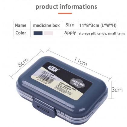 Biziborong 8 Slots Medicine Box Pill Storage Tablet Case Dispenser Travel Portable Mini Organizer - HL002